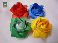 折纸玫瑰花—来自日本的纸玫瑰的折法图解教程