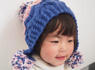 【亲子款】韩版撞色护耳帽棒针编织视频教程--甜甜快乐编织