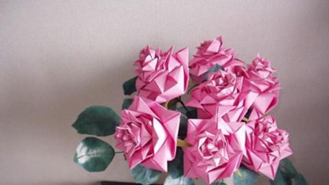 玫瑰花折纸教学视频