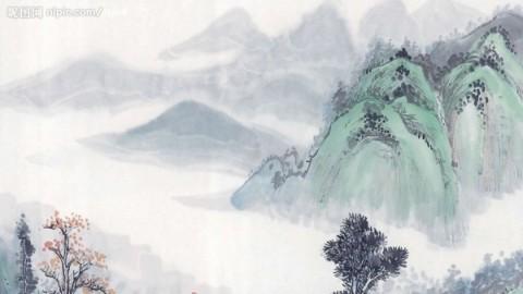 山水画是由山峦,石头,树木,云雾,瀑布,江湖这些主要景物组成的,学山