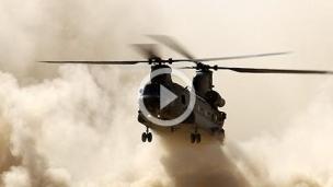 直升机起飞烟雾特效
