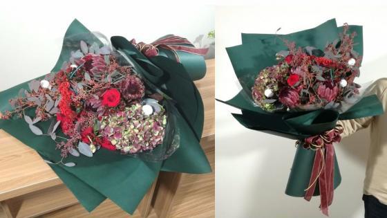 圣诞节定制花束包装制作