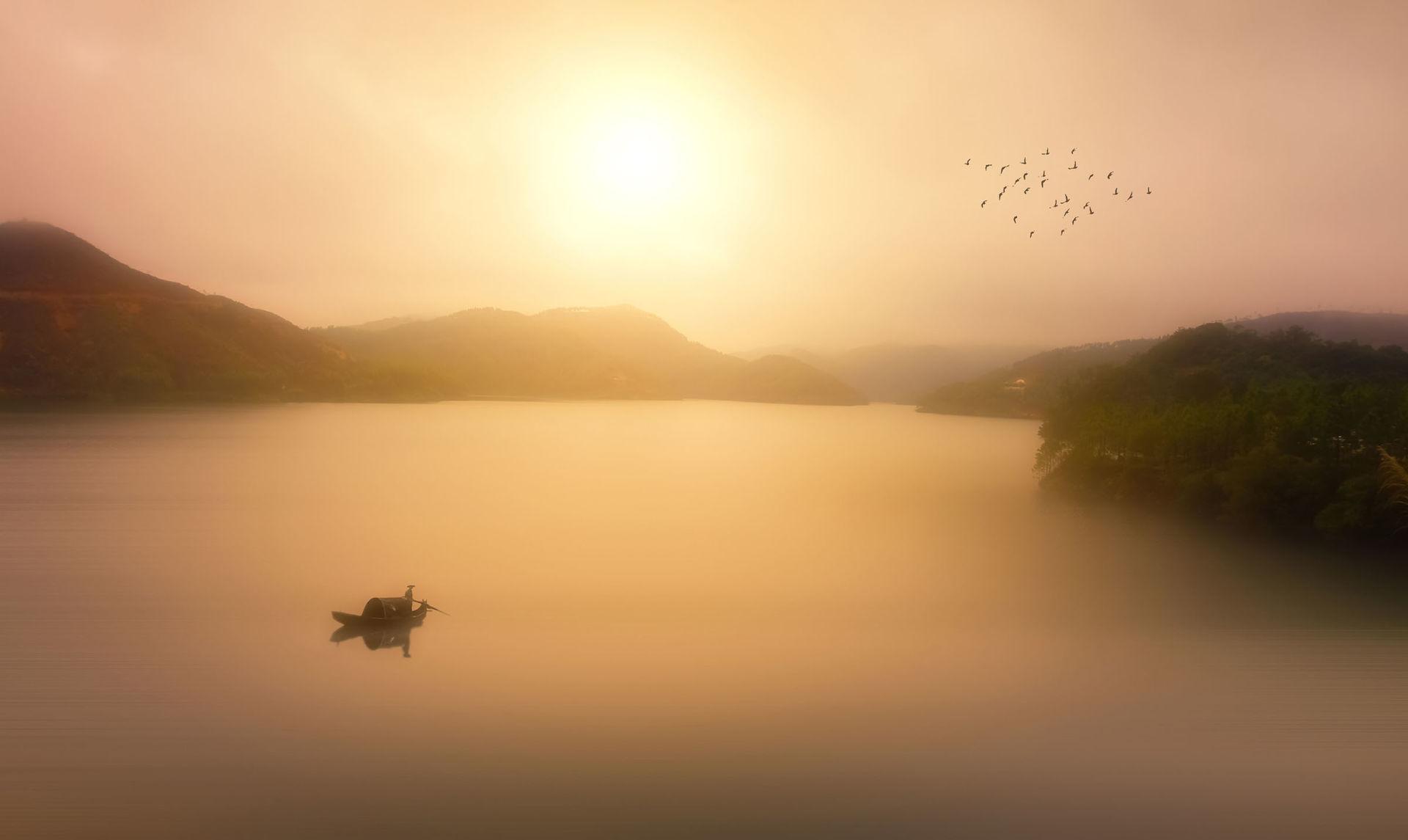 清雅晨曦风景太阳图片